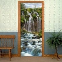 Decorative vinyl doors waterfalls mountains