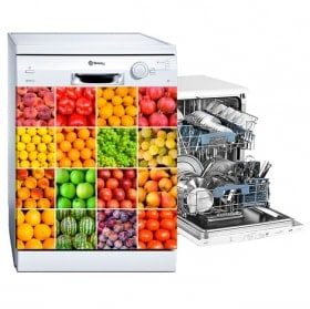 Stickers for dishwashers collage fruits and vegetables