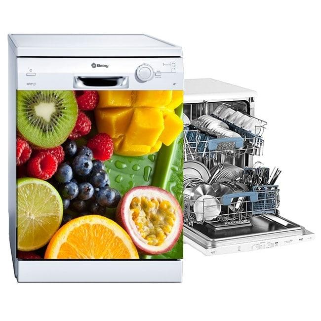 Fruits stickers dishwashers