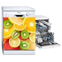 Vinyls dishwashers fruit collage