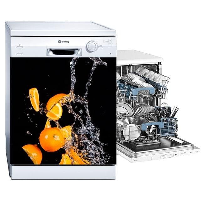 Dishwashers orange splash vinyl