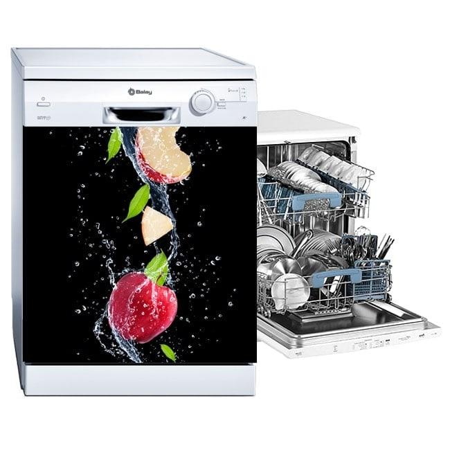 Dishwasher vinyls apple splash