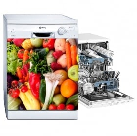 Stickers dishwashers vegetables and fruits