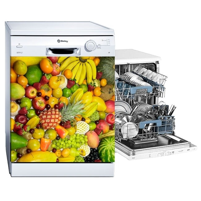 Decorative stickers for dishwashers fruit collage