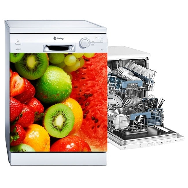 Decals dishwasher fruit collage