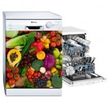 Decorative vinyls dishwashers vegetables and fruits