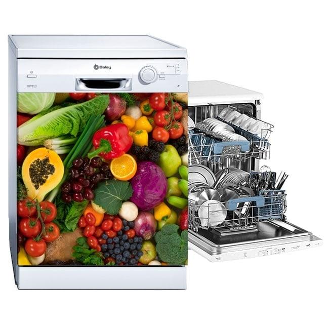 Decorative vinyls dishwashers vegetables and fruits