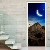 Vinyls and stickers for doors magic sunset