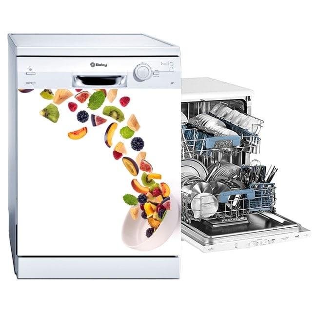 Vinyls stickers dishwasher fruits