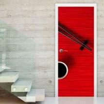 Decorative vinyl doors chopsticks