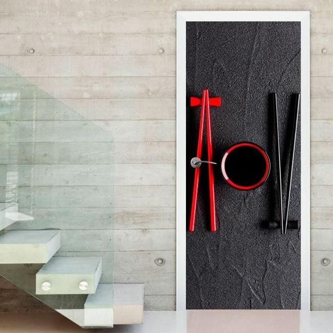 Decals for doors chopsticks