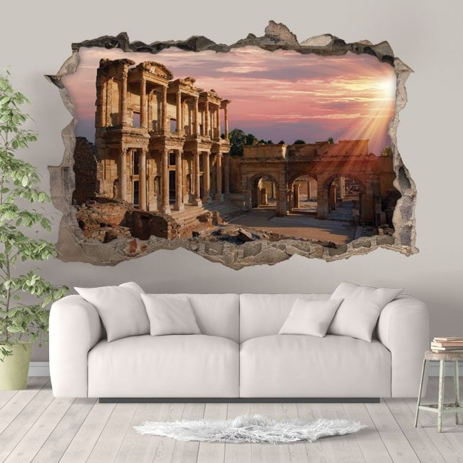 3D stickers Library of Celsus Turkey