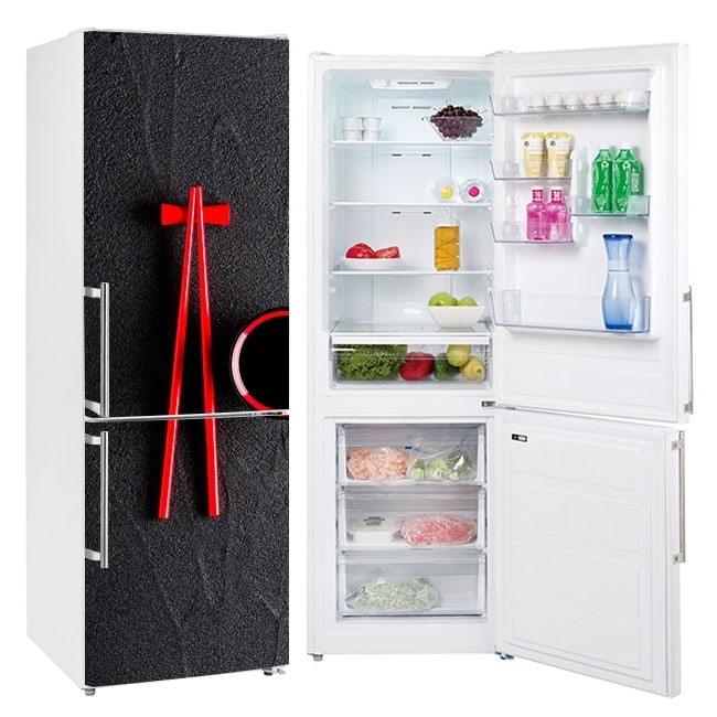 Chopsticks stickers refrigerators