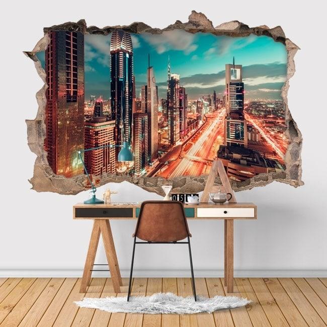 wall stickers 3d dubai city