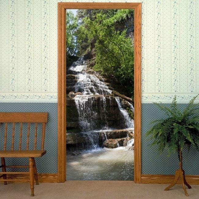 Doors decals mountain waterfall