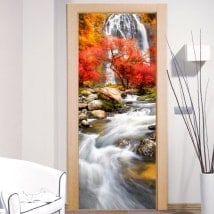Vinyl doors waterfall nature
