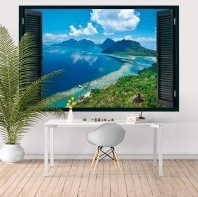 3D vinyl windows island Bohey Dulang Malaysia