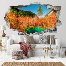 3D stickers nature color