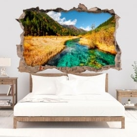 3D decorative vinyls river in the mountains