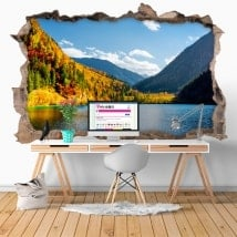Wall stickers 3D nature reserve Jiuzhaigou China