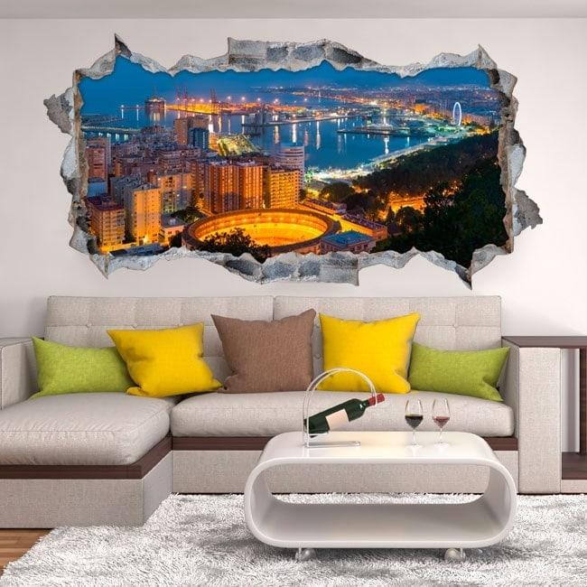 Vinyl 3D panoramic Málaga Spain