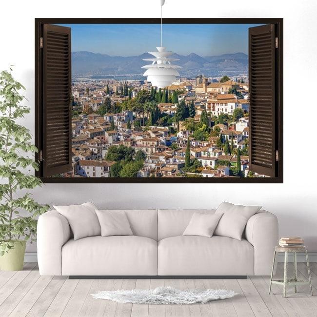 3D windows vinyl Albaicín Granada Spain