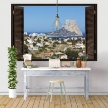 3D vinyl windows Rock of Gibraltar