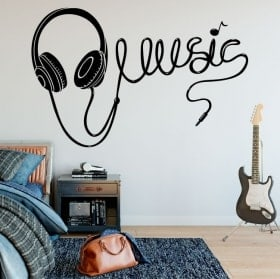Stickers music headphones