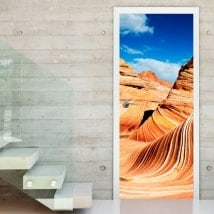 Door decals wave Arizona