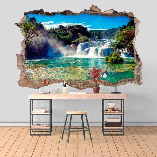 3D stickers waterfalls Krka national park