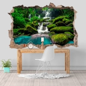 Wall stickers 3D waterfalls in the jungle