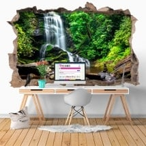 Wall stickers 3D waterfalls Catawba Old Fort