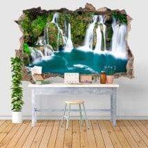 Wall stickers 3D waterfalls in Martin Brod