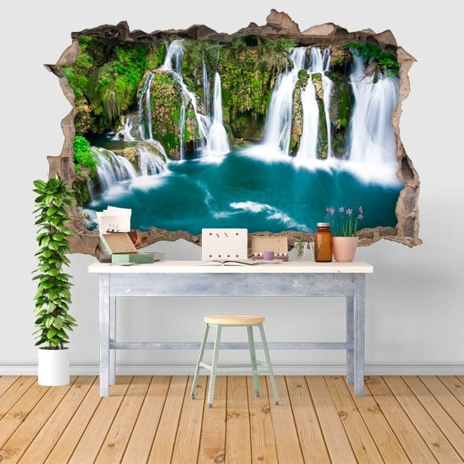 Sticker 3d Parete.Wall Stickers 3d Waterfalls In Martin Brod