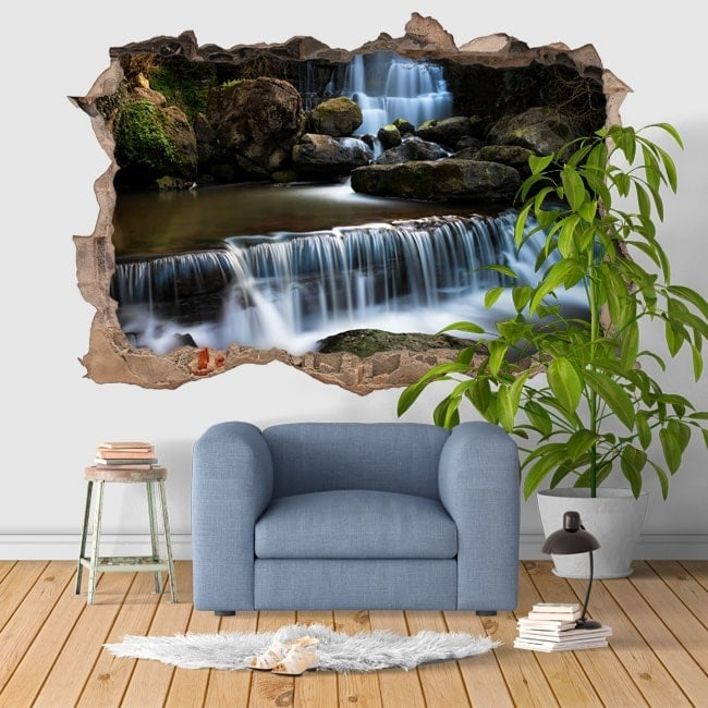 Wall stickers 3d waterfall ferven a portugal for Stickers decorativos de pared