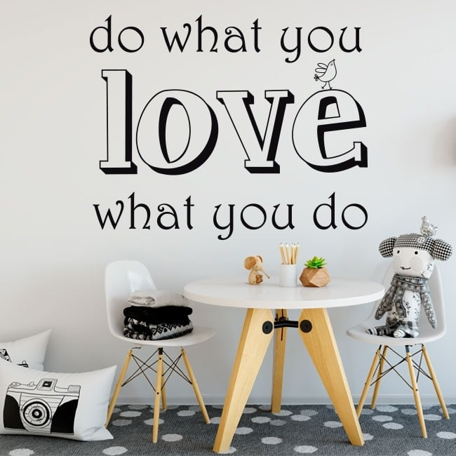 stickers text do what you love. Black Bedroom Furniture Sets. Home Design Ideas