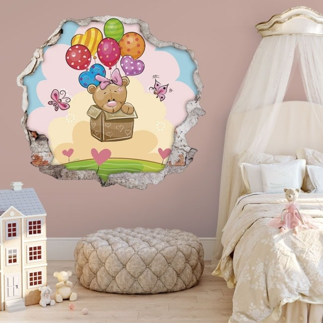 3D stickers dolls and balloons