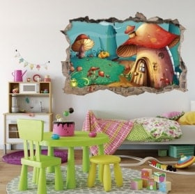 3D children's stickers magical forest