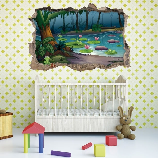 Children's 3D stickers magic forest