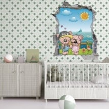 3D children's stickers fashion bears