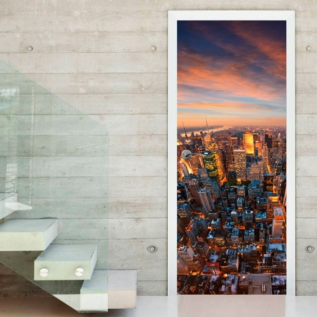 New York stickers doors