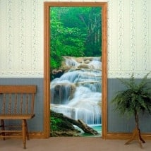 Waterfalls Nature stickers doors