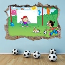 Stickers 3D children's soccer