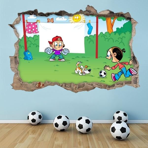 Stickers 3D children's soccer