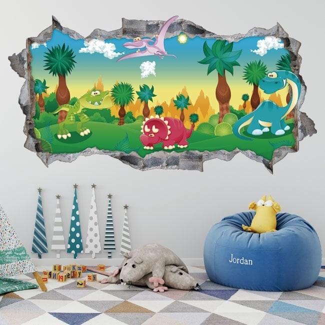 Children stickers 3D jurassic park