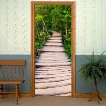 Decorative vinyl doors way in the nature
