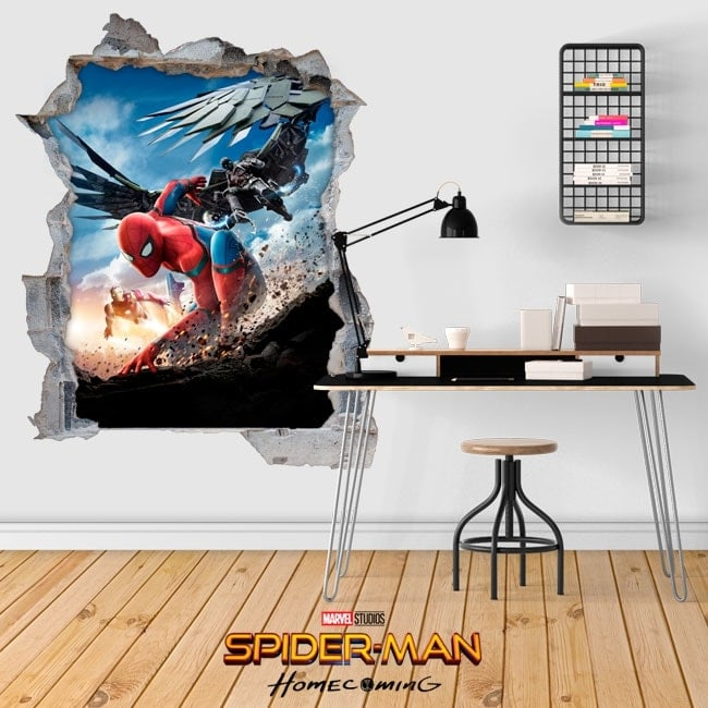 3D stickers spiderman homecoming