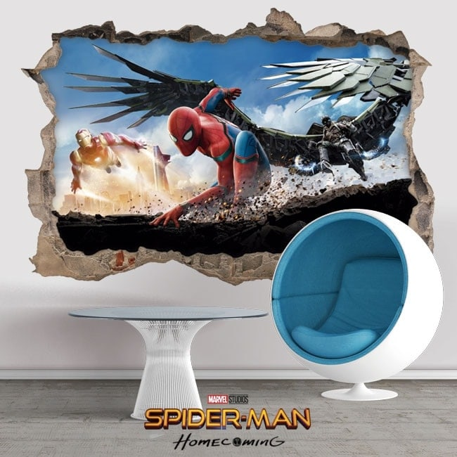 Wall stickers 3D spiderman homecoming