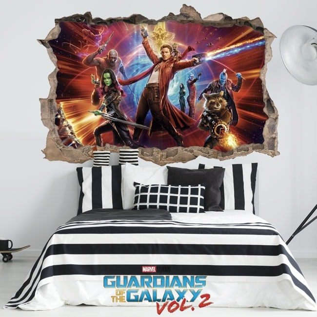Stickers 3D guardians of the galaxy 2