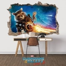 3D wall decals guardians of the galaxy 2